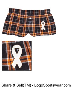 Juniors 100% Cotton Flannel Boxers Design Zoom